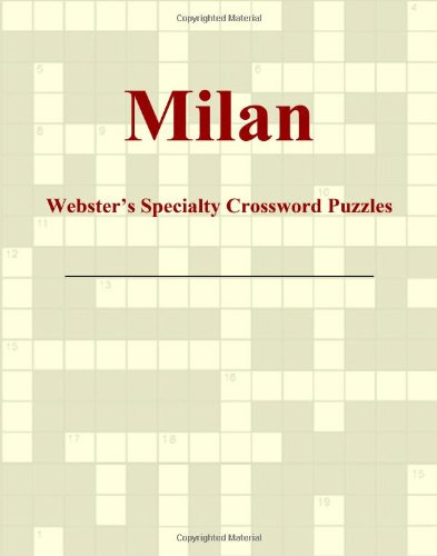 9780546428902: Milan - Webster's Specialty Crossword Puzzles