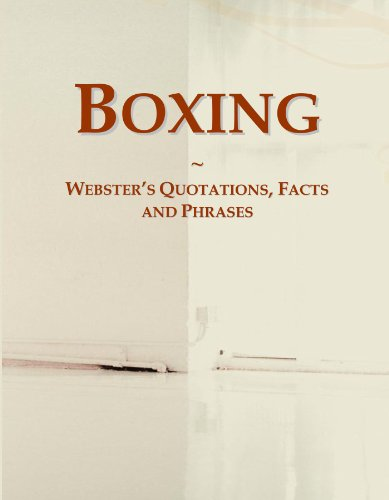 9780546549331: Boxing: Webster's Quotations, Facts and Phrases
