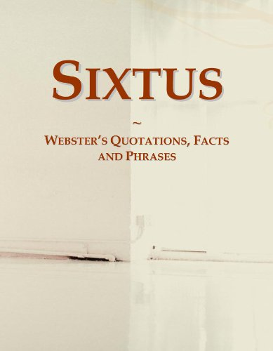 9780546560947: Sixtus: Webster's Quotations, Facts and Phrases