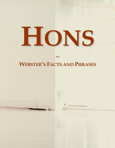 9780546565843: Hons: Webster's Facts and Phrases