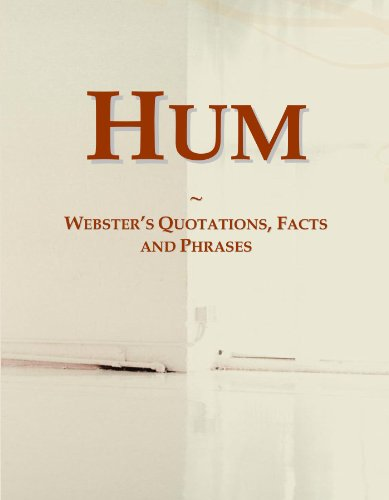 9780546568882: Hum: Webster's Quotations, Facts and Phrases