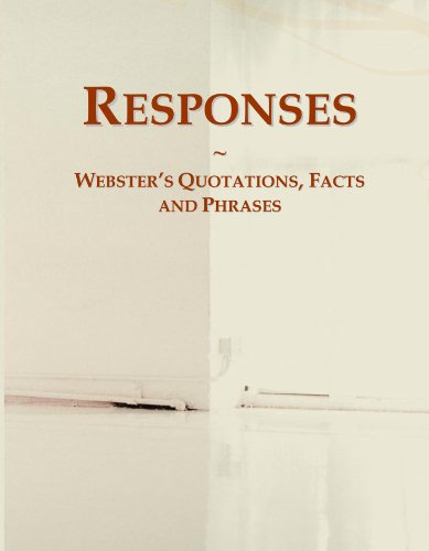 9780546584332: Responses: Webster's Quotations, Facts and Phrases