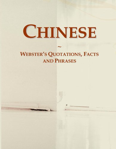9780546588156: Chinese: Webster's Quotations, Facts and Phrases