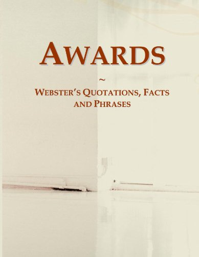 9780546588163: Awards: Webster's Quotations, Facts and Phrases
