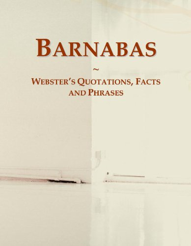9780546614657: Barnabas: Webster's Quotations, Facts and Phrases