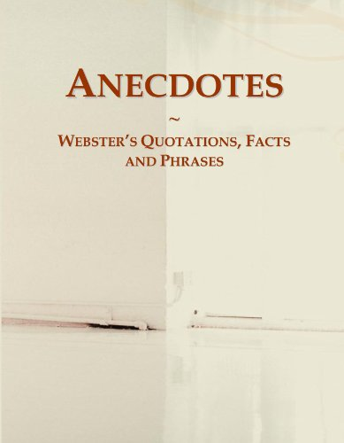 9780546616491: Anecdotes: Webster's Quotations, Facts and Phrases