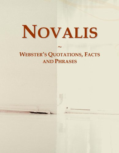 9780546638462: Novalis: Webster's Quotations, Facts and Phrases