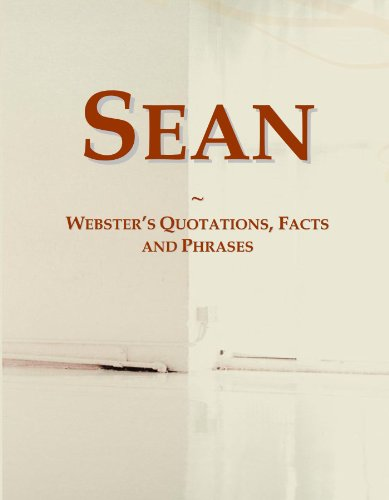9780546667660: Sean: Webster's Quotations, Facts and Phrases