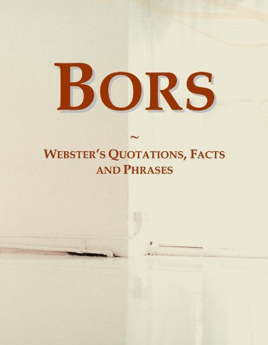 9780546686777: Bors: Webster's Quotations, Facts and Phrases