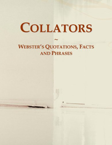 9780546696042: Collators: Webster's Quotations, Facts and Phrases