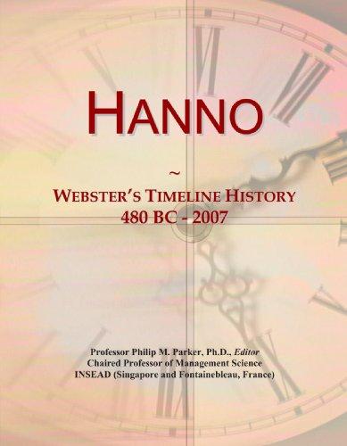 9780546700114: Hanno: Webster's Timeline History, 480 BC - 2007