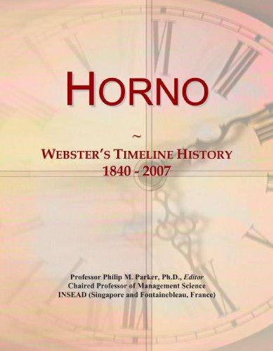 9780546714500: Horno: Webster's Timeline History, 1840 - 2007