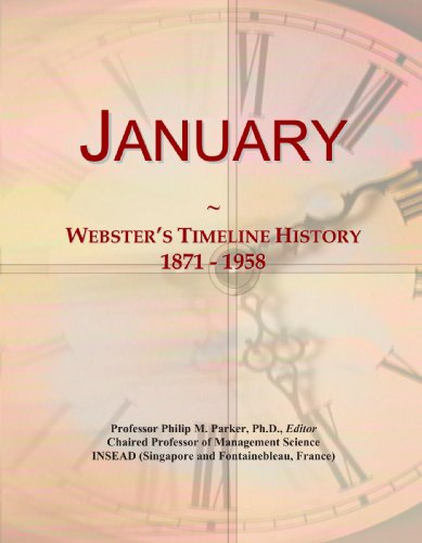 9780546734782: January: Webster's Timeline History, 1871 - 1958