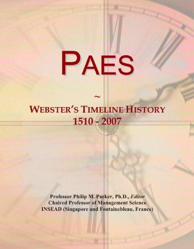9780546746082: Paes: Webster's Timeline History, 1510 - 2007