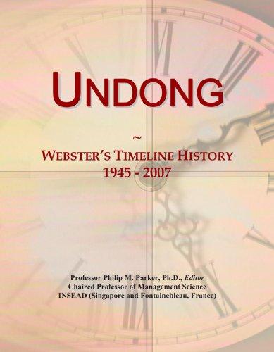 9780546757705: Undong: Webster's Timeline History, 1945 - 2007