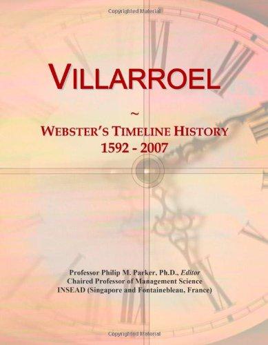 9780546759228: Villarroel: Webster's Timeline History, 1592 - 2007