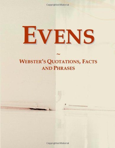 9780546763942: Evens: Webster's Quotations, Facts and Phrases