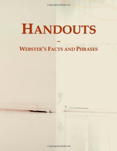 9780546780048: Handouts: Webster's Facts and Phrases