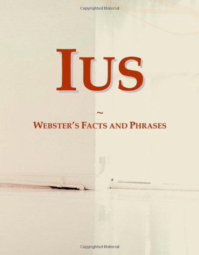 9780546792799: Ius: Webster's Facts and Phrases