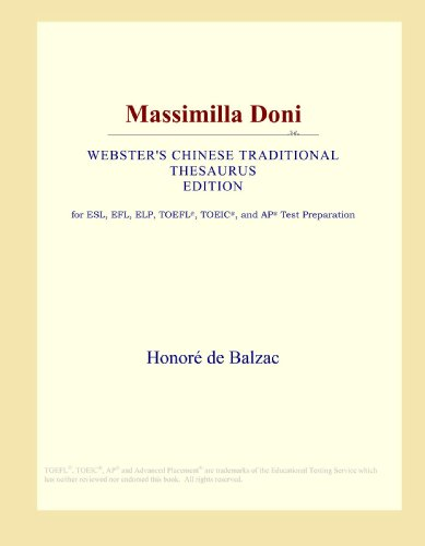 9780546810066: Massimilla Doni (Webster's Chinese Traditional Thesaurus Edition)