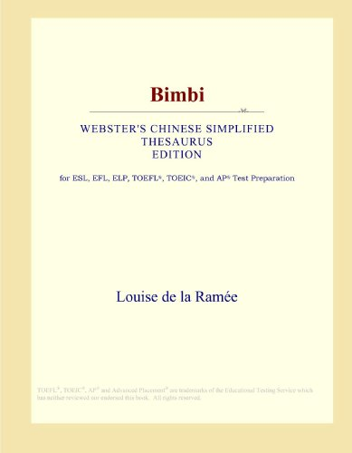 9780546813401: Bimbi (Webster's Chinese Simplified Thesaurus Edition)