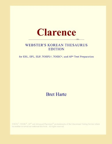 9780546825916: Clarence (Webster's Korean Thesaurus Edition)