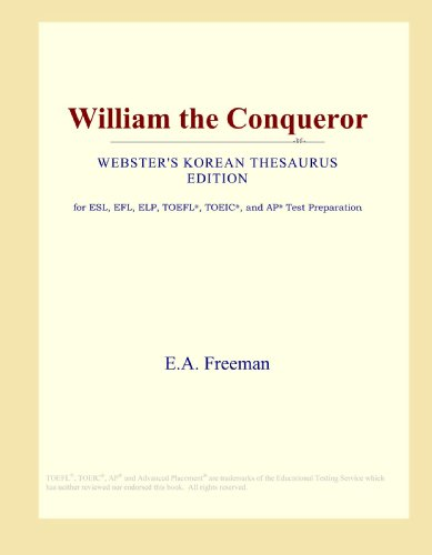 9780546829280: William the Conqueror (Webster's Korean Thesaurus Edition)