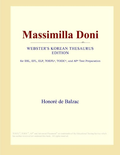 9780546835205: Massimilla Doni (Webster's Korean Thesaurus Edition)