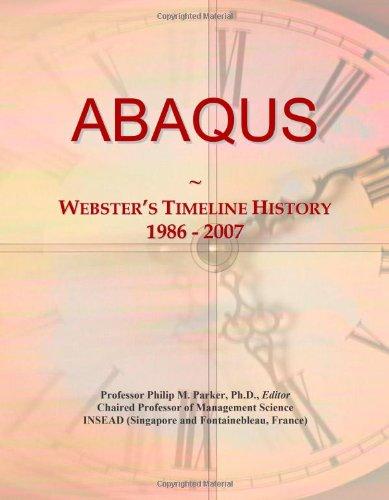 9780546851892: ABAQUS: Webster's Timeline History, 1986 - 2007