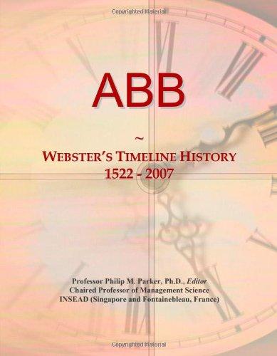 9780546851977: ABB: Webster's Timeline History, 1522 - 2007