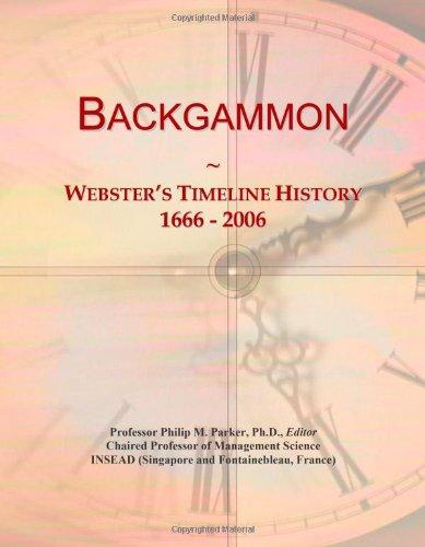9780546863833: Backgammon: Webster's Timeline History, 1666 - 2006
