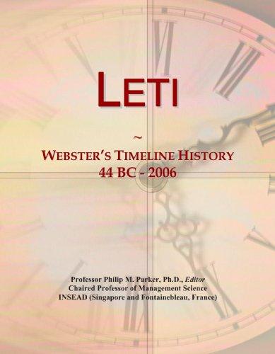 9780546880779: Leti: Webster's Timeline History, 44 BC - 2006