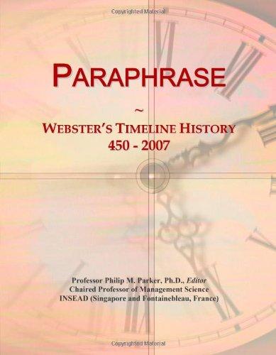 9780546888218: Paraphrase: Webster's Timeline History, 450 - 2007
