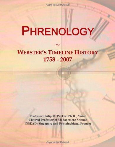 9780546892574: Phrenology: Webster's Timeline History, 1758 - 2007