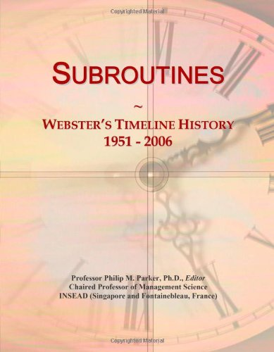 9780546907155: Subroutines: Webster's Timeline History, 1951 - 2006