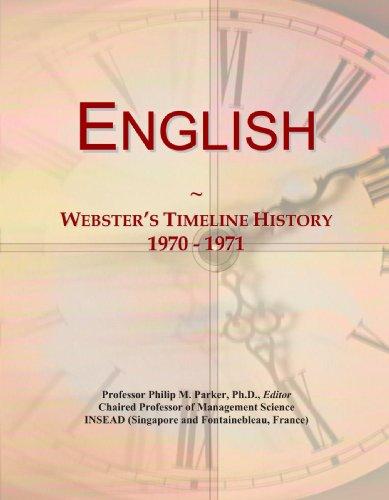 9780546968026: English: Webster's Timeline History, 1970 - 1971