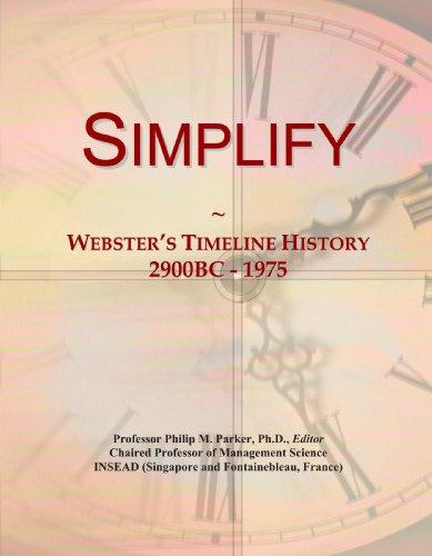 9780546998825: Simplify: Webster's Timeline History, 2900BC - 1975