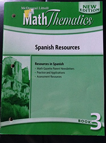 9780547000855: MathThematics: Spanish Resources Book 3 (Spanish Edition)