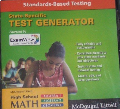 McDougal Littell State-Specific ExamView Test Generator Standards-Based: McDougal Littell