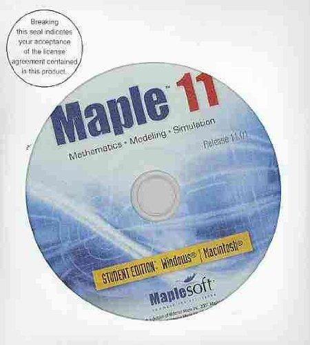 9780547008301: Maple Student Workbook, Version 11 for Larson/Hostetler/Edwards' Calculus, 8th