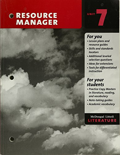 Resource Manager Answer Key McDougal Littell Literature