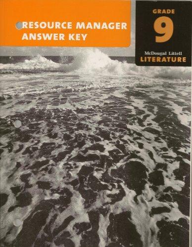 9780547009476: McDougal Littell Literature Grade 9 Resource Manager Answer Key