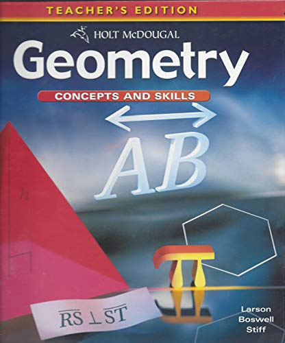 9780547012438: Geometry: Concepts and Skills: Teacher's Edition Geometry 2010