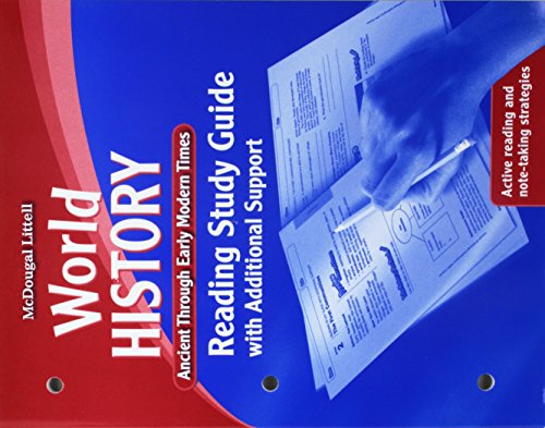 9780547020396: World History: Reading Study Guide with Additional Support Ancient through Early Modern Times