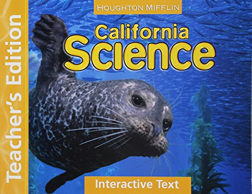 9780547021508: Houghton Mifflin Science California: Work Text Tae Level 5