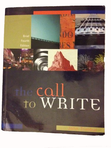 9780547050164: The Call to Write, 4th Brief Edition