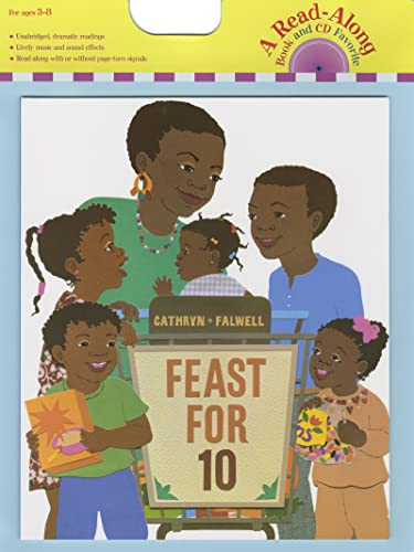 9780547064314: Feast for 10 (Read Along Book & CD)
