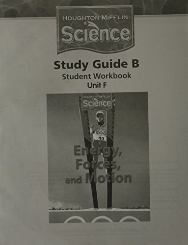 9780547065762: Houghton Mifflin Science: Study Guide Booklet Module F Grade 6 Level 6
