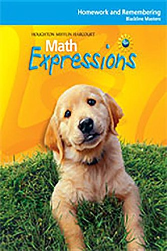 9780547067117: Math Expressions: Homework and Remembering Blackline Master Level K