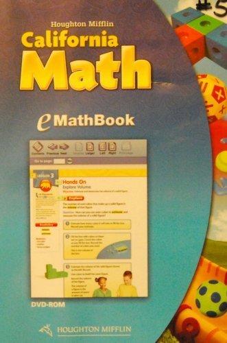 Houghton Mifflin Mathmatics California: Emathbook Dvd Level 4 2009: HOUGHTON MIFFLIN